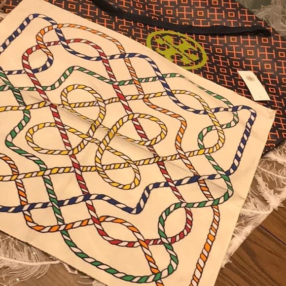 Tory Burch Accessories - Tory BURCH Silk SCARF Nautical rope rare design
